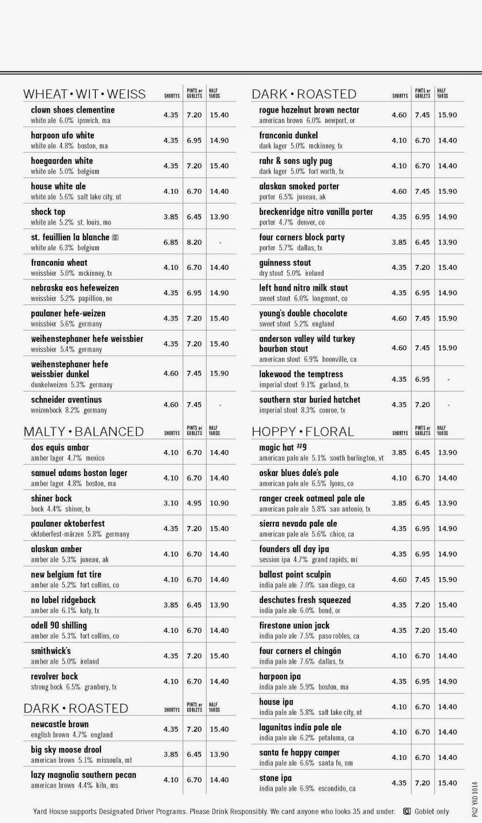Dallas Beer Snobs The Yard House Addison