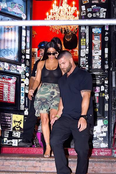 Kim Kardashian and Kendall Jenner seen on August 1, 2017
