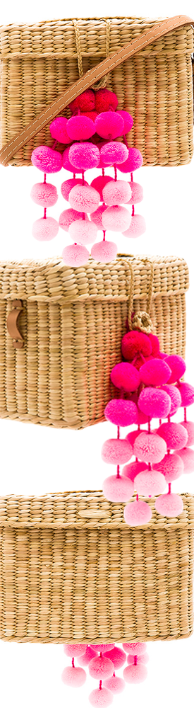 NANNACAY X REVOLVE ROGE SMALL POMPOM BAG