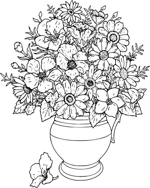 Flower Bouquet Coloring Page