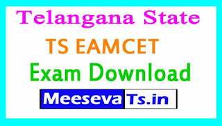 TS EAMCET Exam Hall Tickets Download 2017