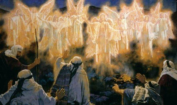 angels sing to shepherds -#main