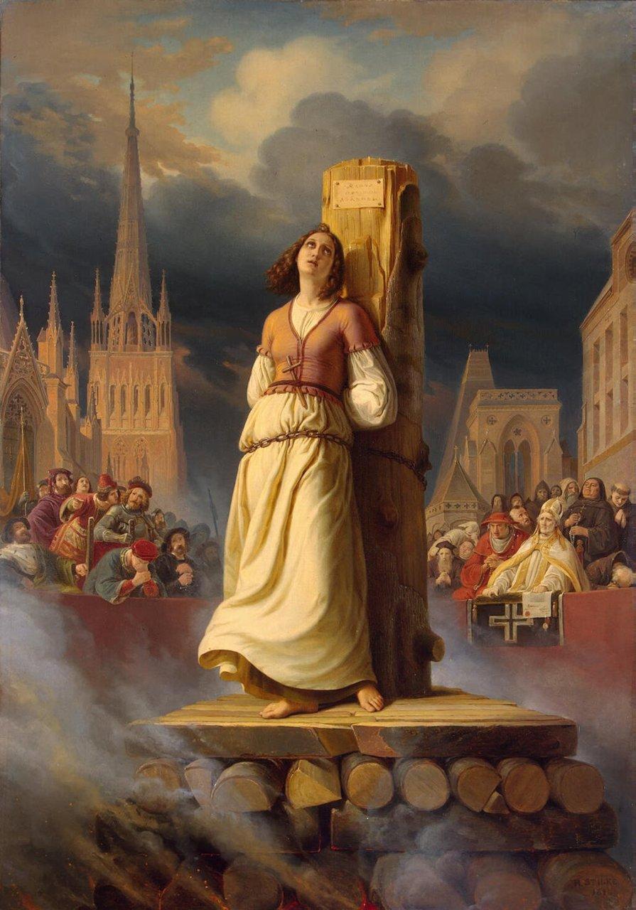 Joana d'Arc - Pintura de Hermann Stilke