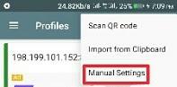 shadowsocks manual settings