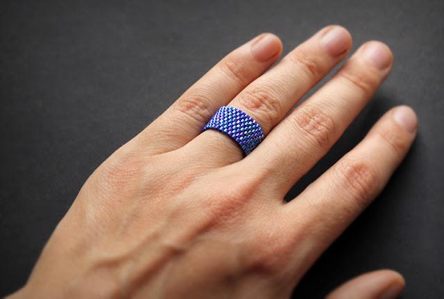 купить украшения из бисера кольца бижутерия купить 15 размер