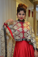 Anya South Actress model in Red Anarkali Dress at Splurge   Divalicious curtain raiser ~ Exclusive Celebrities Galleries 031.JPG