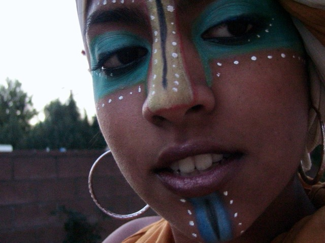 South African Tribal Face Paint