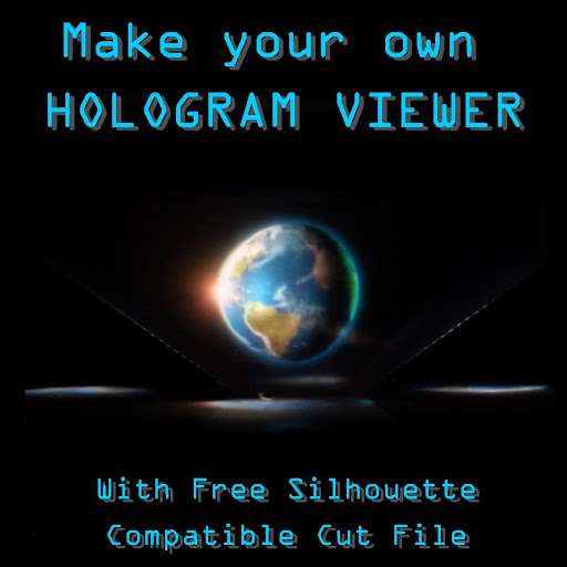 Acetate Hologram viewer tutorial by Nadine Muir for Silhouette UK Blog including free cut file