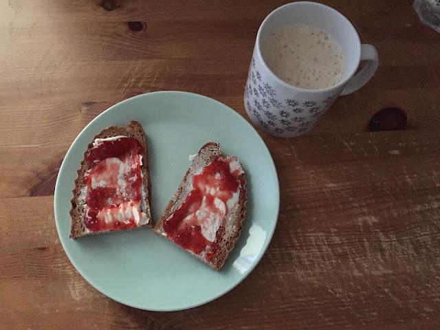 Mein Frühstück vor dem Halbmarathon