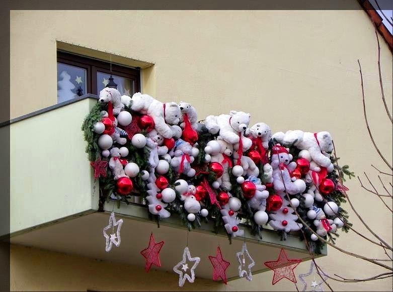 decoración balcón navideño