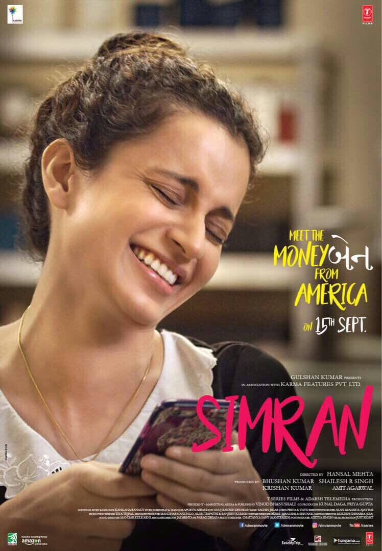 Kangana Ranaut's Simran Movie Poster