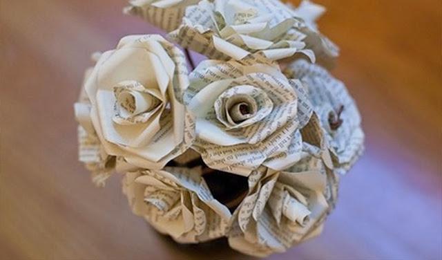 Bunga dari Kertas Koran
