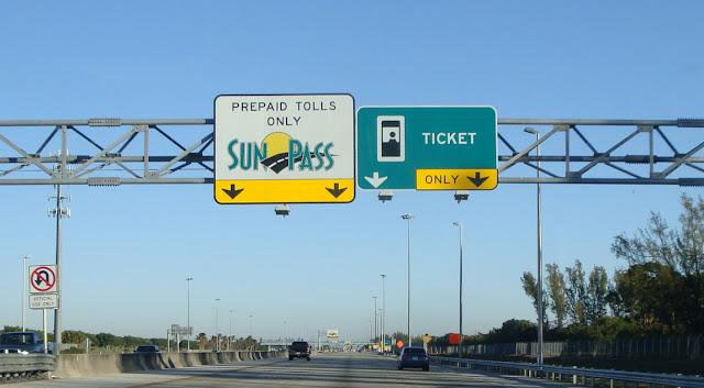 Pedágios nas estradas da Flórida nos Estado Unidos