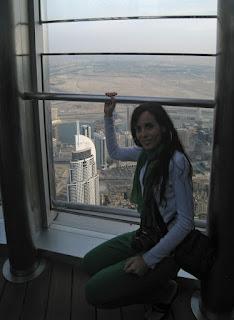 En el mirador del Burj Khalifa, el edificio más alto del mundo