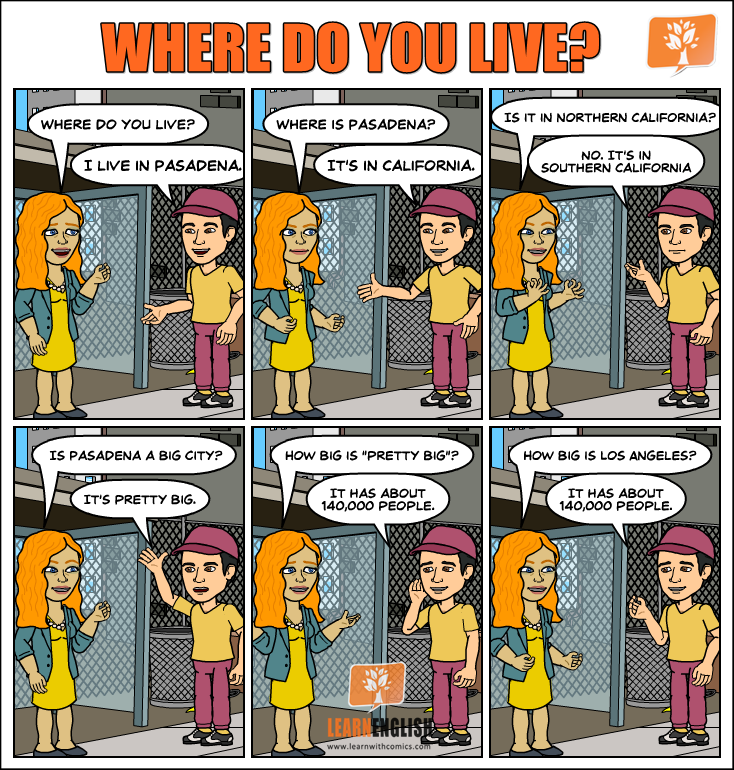 Where Do You Live Learn English With Comics In both or other similar please click allow or anything like share location meaning if you are prompted like above. learn english with comics