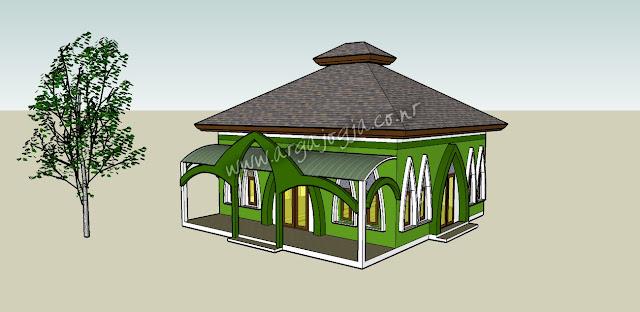 gambar desain masjid modern terbaru