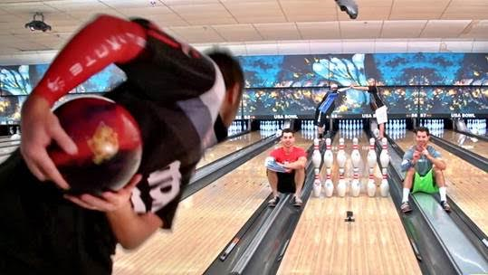 Knockin' down those pins!