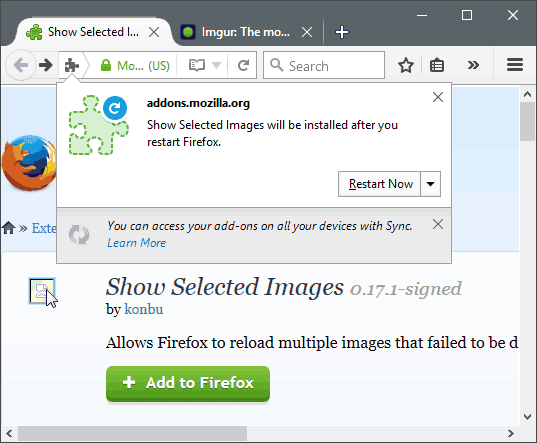 Reload Image That Failed to Display in Firefox