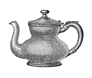 teapot clip art digital download tea