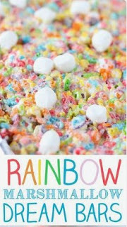 Rainbow Marshmallow Dream Bars