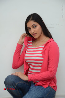 Telugu Actress Mouryani Latest Pos in Blue Denim Jeans  0107.JPG