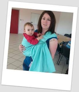 sling LLA ling ling d'amour daïcaling portage porter bébé épaule tissu écharpe