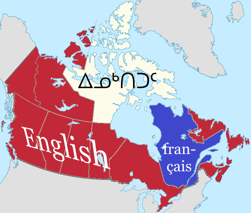 Map Of Canada Languages.Yuunli S Random Facts En Languages Of Canada