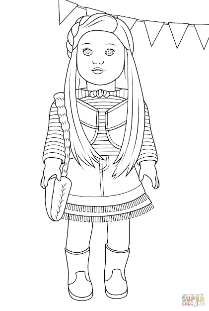 Click The American Girl Mckenna Coloring Pages