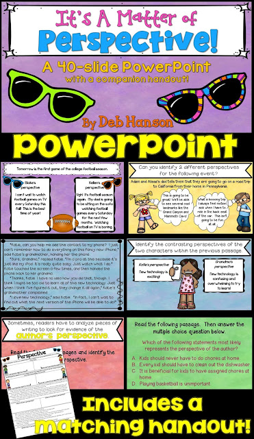 Perspective PowerPoint for intermediate level students! Includes many practice passages!