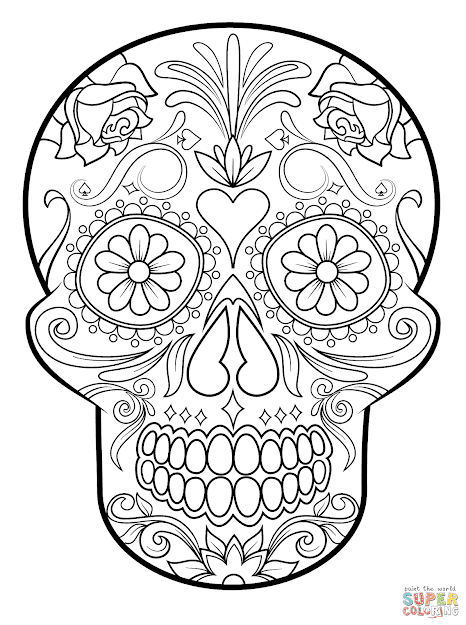 Click The Sugar Skull Coloring Pages To View Printable Version Or Color It  Online Patible With Ipad And Android Tablets