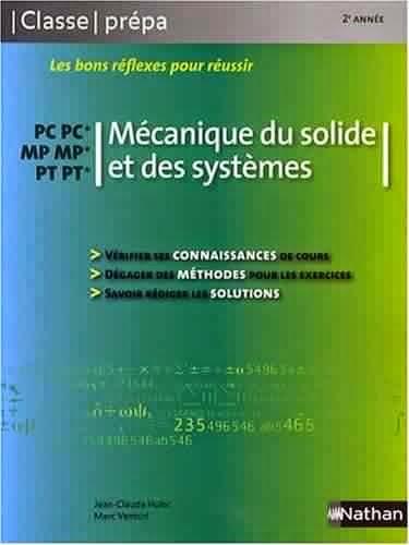 Livre Mécanique du solide et des systèmes PC-PC*/ MP-MP*/ PT-PT* - 2e année