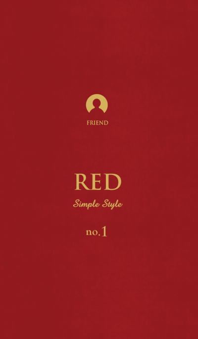Simple Style -RED- no.1