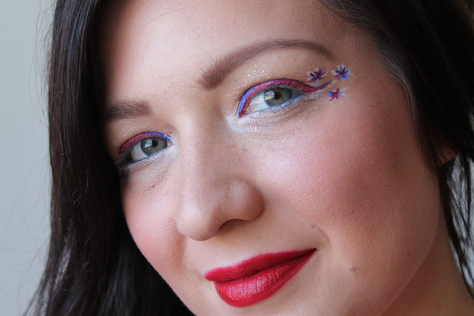 Fourth Of July Makeup Tutorial Jersey Girl Texan Heart