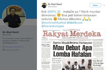 Rizal Ramli: Kok KPU Malu-maluin? Bisa Jadi Bahan Ketawaan Sedunia