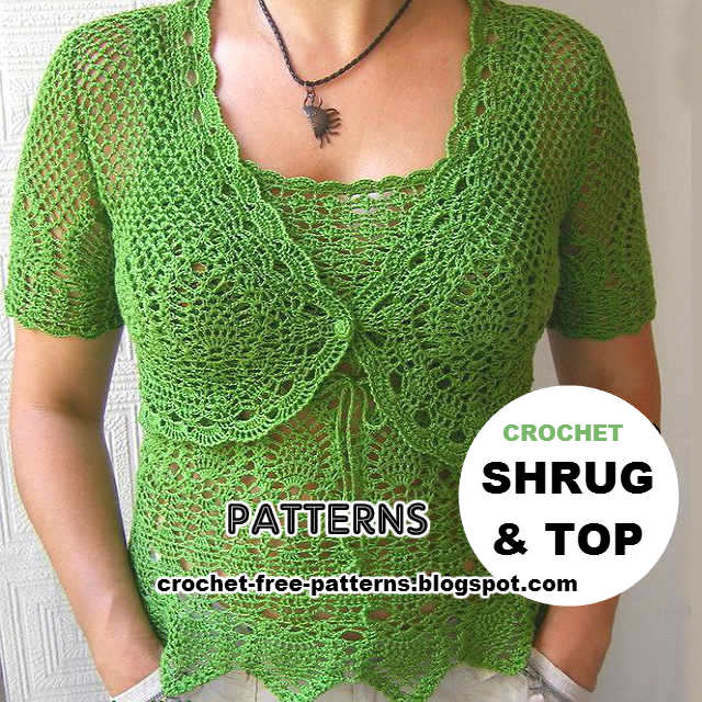 Best Free Crochet Pattern Sites : Shurg and Top ~ Crochet Patterns - Free Crochet Patterns