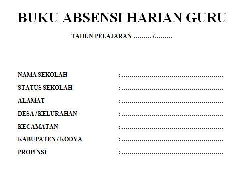 Contoh Format Absensi Harian Guru PAUD TK RA Tahun Ajaran 2016-2017 Format Ms Word
