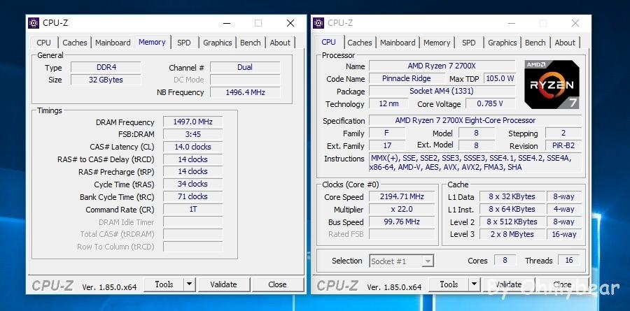 Ohmybear: AMD Ryzen+ 2700X in ASUS Strix X470-F Gaming 裝機
