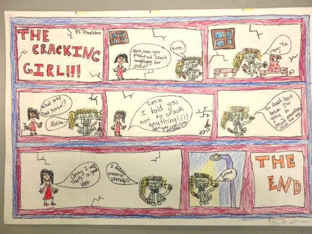 Thomas Elementary Art 4th Grade Comic Strips