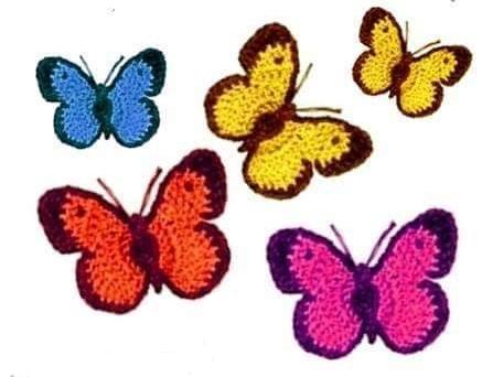 Patrón #765: Mariposa a Crochet