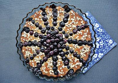 Ciasto owsiane z borówkami