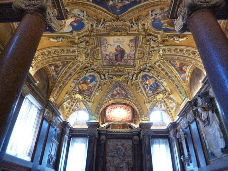 Teto do batistério da Basílica de Santa Maria Maior