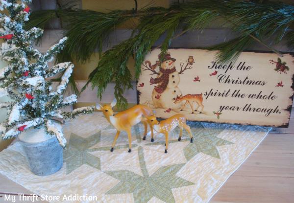 Vintage Christmas vignette