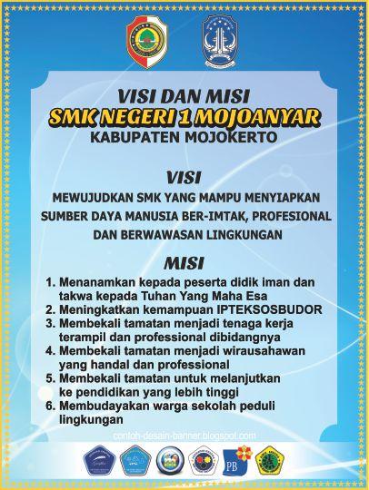 Visi dan Misi SMK Negeri 1 Mojoanyar Mojokerto