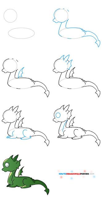 Cara Menggambar Naga