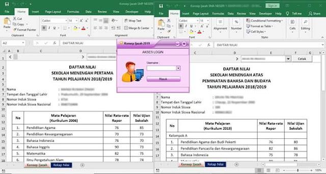 Aplikasi Konsep Ijazah 2019 SD,SMP,SMA Semua Kurikulum