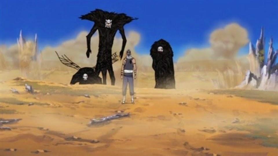Kakuzu junto con sus 3 corazones.