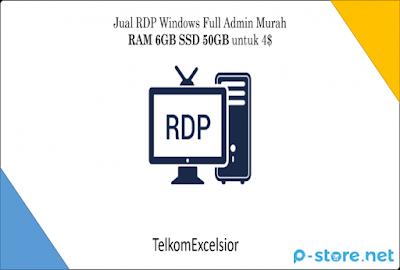RDP Windows Full Admin Murah RAM 6GB SSD 50GB