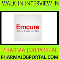 Emcure Pharmaceuticals Walk-In For Freshers - Multiple Positions (40 Positions) at 31 October
