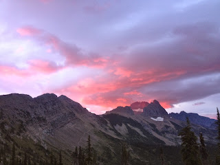 Sunrise over the Garden Wall, from Granite Park Chalet, Glacier National Park