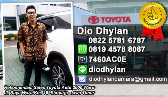 Rekomendasi Sales Dealer Toyota Auto 2000 Waru Sidoarjo, Jawa Timur